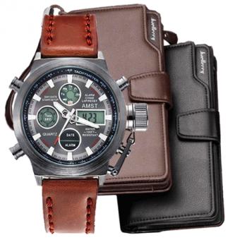 Комплект часы Amst и клатч Baellerry Italia