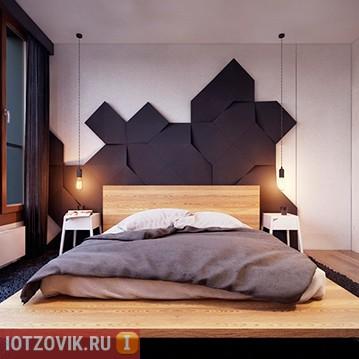 необычне лампы в спальне