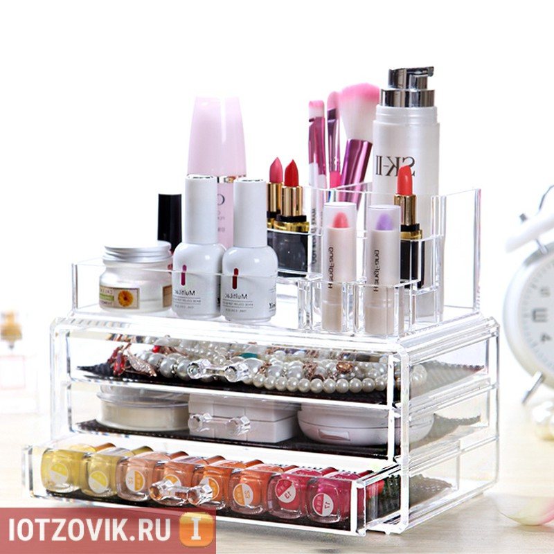Прозрачный комод для косметики Beauty Box
