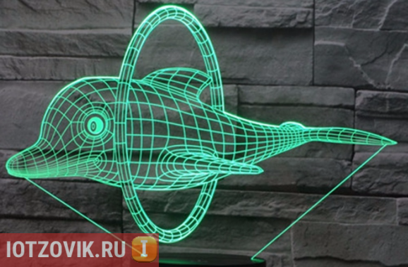 3D ночник Дельфин