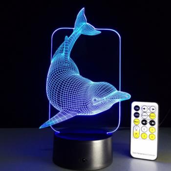 Светодиодный 3D ночник Дельфин