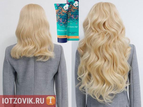 До и после применения Princess Hair
