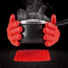 силиконовые жаропрочные перчатки