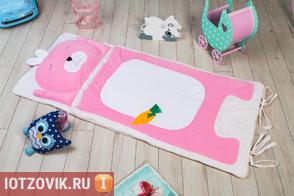 розовый детский спальный мешок