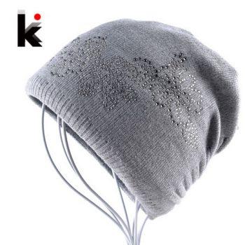 шапка женская серая с алиэкспресс