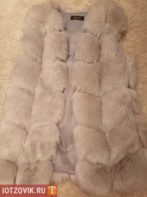 лиса искусственная мех жилетка