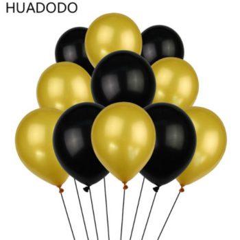 золотые и черные шары