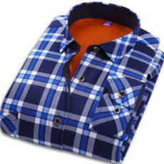 рубашка синяя в клетку с Али