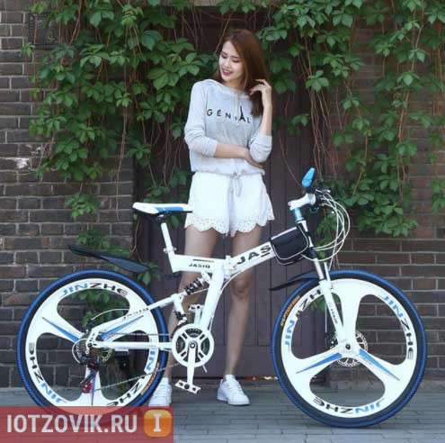 белый велосипед с али