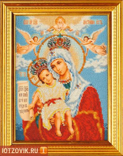 Вышивание бисером икон, набор, Богородица