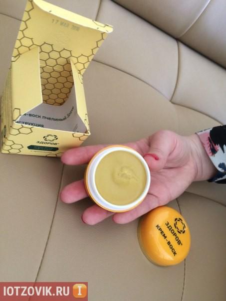 фотография упаковки крем-воска Здоров
