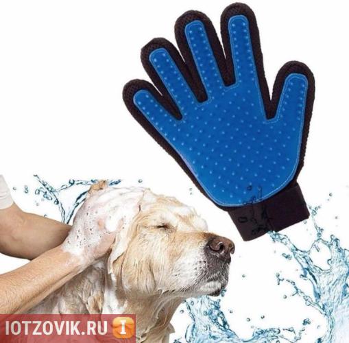 Pet Brush Glove для шерсти животных