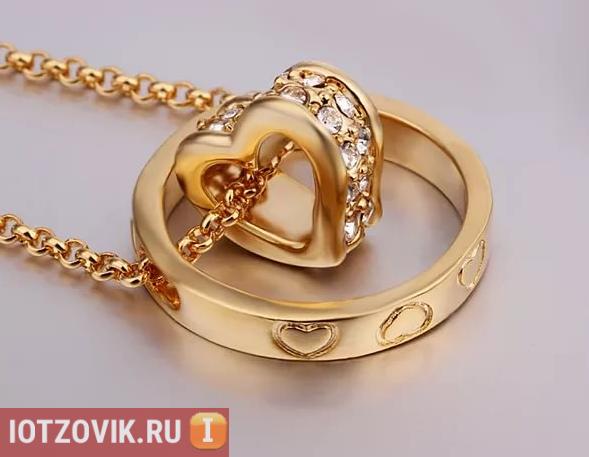 Ring Heart золотого цвета