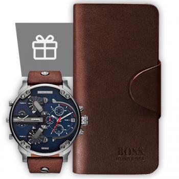 портмоне Hugo Boss + часы Diesel Brave