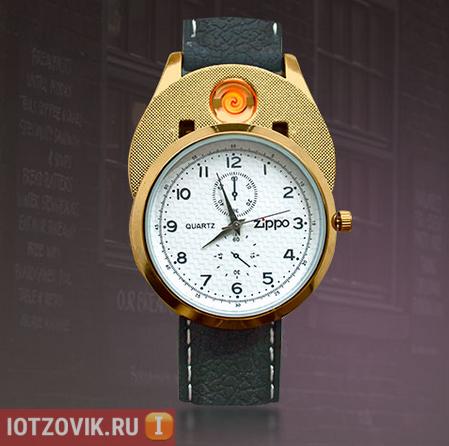 часы с зажигалкой zippo
