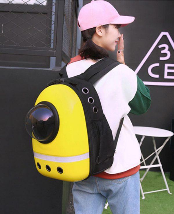 желтый рюкзак Space Pets