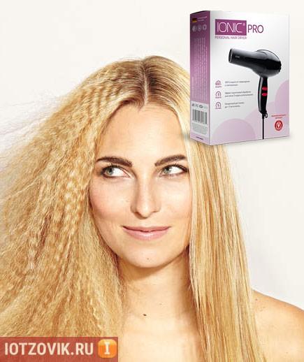выпрямление волос феном