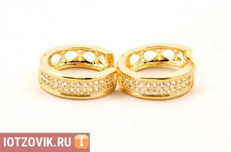 серьги Gold Kors Collection