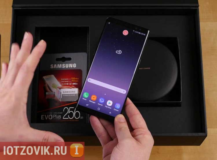 Samsung Galaxy Note 8 распаковка