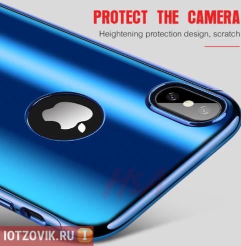 чехол с защитой камеры Iphone X