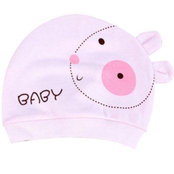 шапочка розовая для девочки 6 мес