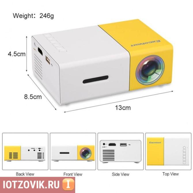 Размеры проектора