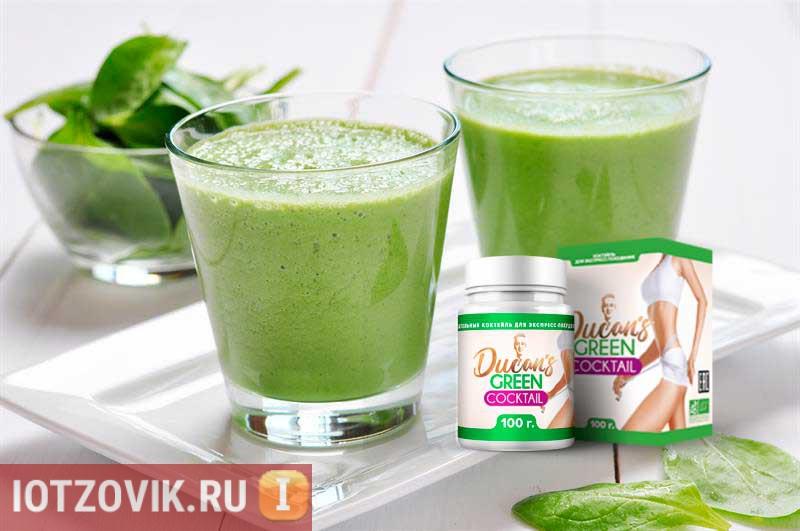 зеленый коктейль по дюкану