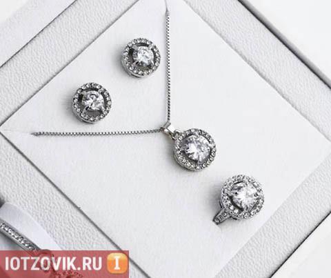Серьги, подвеска и кольцо от Dior Silver