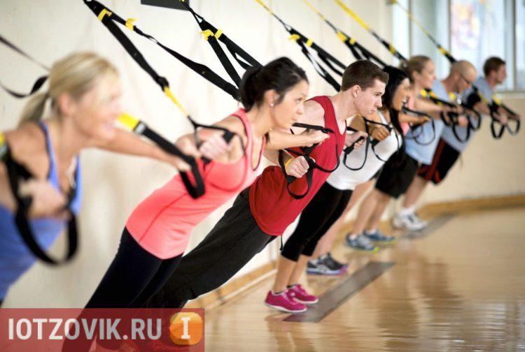 Тренировочные петли TRX FitStudio Suspension в финтес клубах