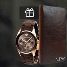кошелек и часы Армани Armani