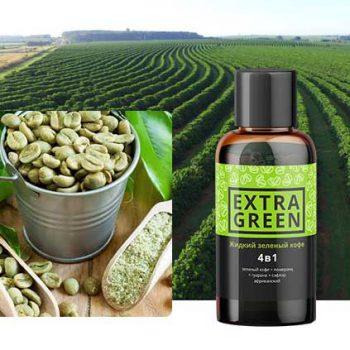 Жидкий зеленый кофе 4 в 1