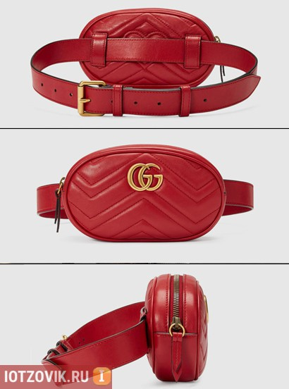 GG Marmont красная сумочка