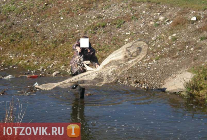 Ловля рыбы на кастинговую сеть