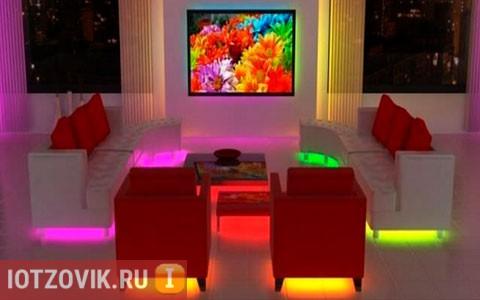 Светодиодная подсветка телевизора и мебели