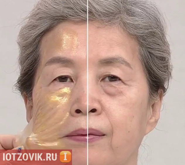 корейская маска с золотом
