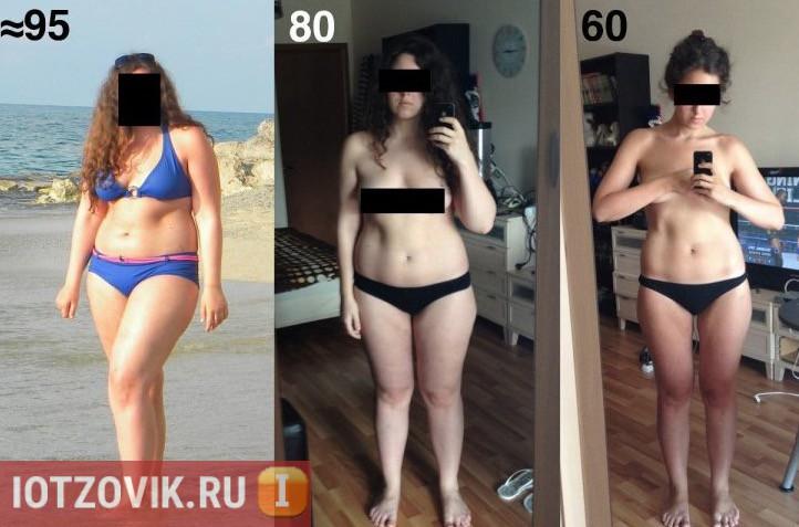 Результат до и после meta для похудения
