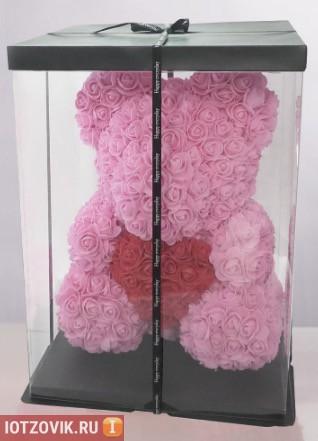 мишка из роз в коробке отзывы