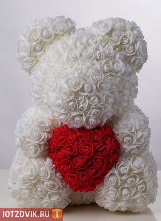 белый мишка из роз отзывы