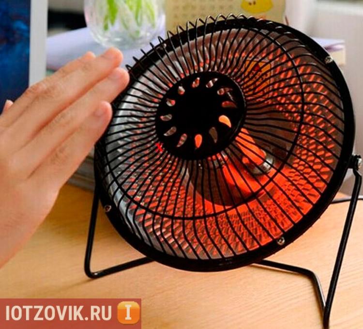 Тепло от обогревателя Gefex