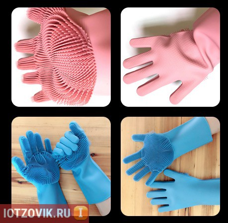 перчатка губка для уборки